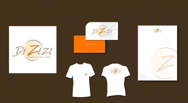 Criação de logotipo, modelo de camiseta, cartão de visita e papel timbrado. para Dizizi