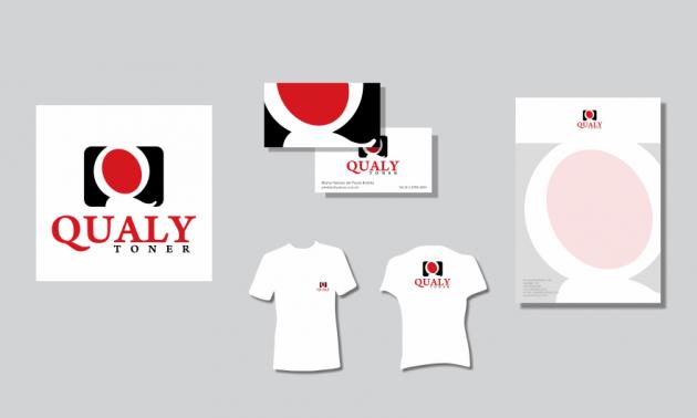 Criação de logotipo, modelo de camiseta, cartão de visita e papel timbrado. para Qualy Toner