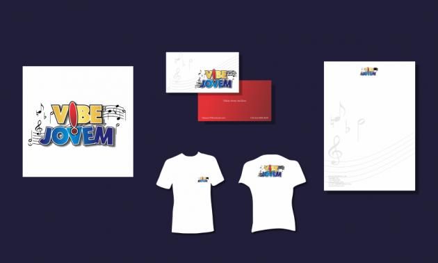 Criação de logotipo, modelo de camiseta, cartão de visita e papel timbrado. para Vibe Jovem