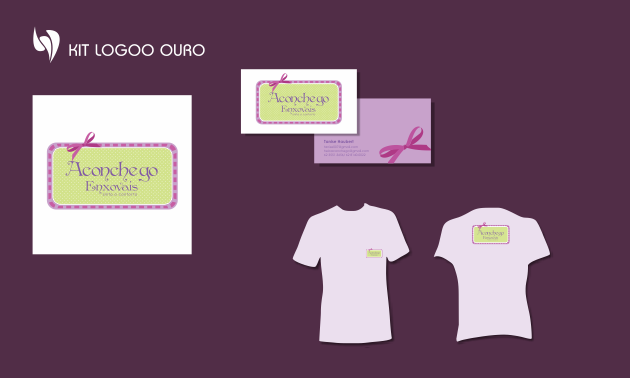 Criação de logotipo, modelo de camiseta, cartão de visita e papel timbrado. para Aconchego Enxovais