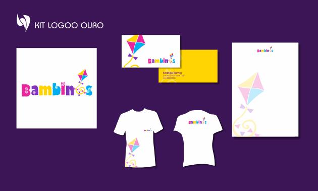 Criação de logotipo, modelo de camiseta, cartão de visita e papel timbrado. para Bambins