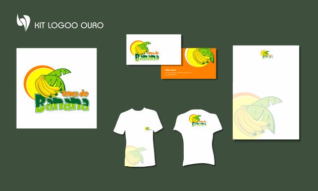 Criação de logotipo, modelo de camiseta, cartão de visita e papel timbrado. para Banca de Banana