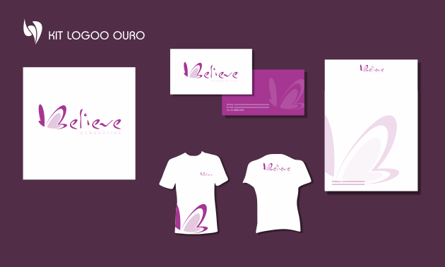 Criação de logotipo, modelo de camiseta, cartão de visita e papel timbrado. para Belive Acessórios