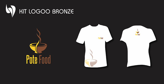Kit Logoo Bronze para Pote Food - Marmitaria