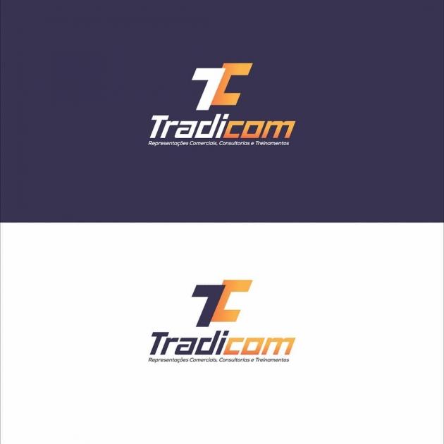Com ajuda das sugestões do cliente, o conceito foi concebido através das iniciais do nome da marca, as letras T e C. Juntas, formando um monograma, que passa seriedade e profissionalismo, características muito utilizadas em outras grandes marcas no mesmo  para Tradicom